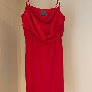 Calvin Klein Red Silk Dress